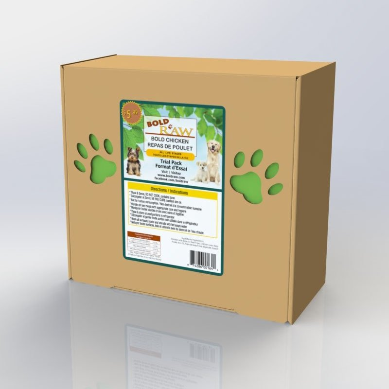 Box packaging for Bold Canine Food